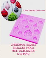 Christmas bauble silicone mold, Christmas silicone mould, Christmas mold, free worldwide shipping