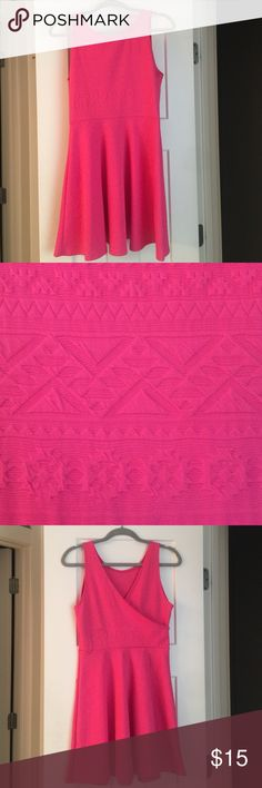 Hot pink tribal print dress Beautiful pink color, stretchy flattering material, tribal print and v-back! ginger g  Dresses