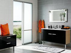 Aalto - musta. Holiday Home, Single Vanity, Home, Vanity, Bathroom Vanity, Bathroom