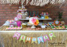 backyard hawaiian luau party | Aloha! This tropical Luau Birthday Party is full of fabulous ideas for ...