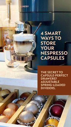 Nespresso, The Secret, Coffee Maker, Divider, Kitchen Appliances, Coffee Maker Machine, Diy Kitchen Appliances, Coffee Percolator, Home Appliances