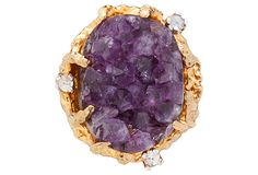 Panetta Amethyst Geode Ring on OneKingsLane.com