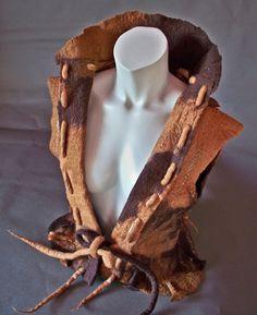 Handmade Felt Tailored Ladies Waistcoat / von FluxFashionFelt