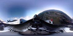 360 Degree, 4K Video of P51 Mustang w/ F-22 Raptor on wing. Note: You can pan around while the video is playing!