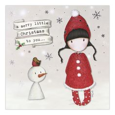 Gorjuss Christmas Collection A Merry Little Christmas To You (Snowman) Christmas Images, Christmas Art, Xmas, Christmas Ornaments, Santoro London, Doodle, Merry Little Christmas, Happy Christmas Wishes, 3d Cards