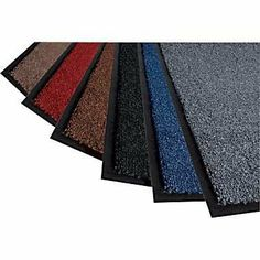 Herco 2' x 3' Indoor Outdoor Plush Carpet Entrance Mat by Herco. $14.99. Vinyl backing will not crack, rot or become brittle.. Vinyl edge border on all four sides.. Made of Olefin Fibers, continuous filament, colorfast.. Dries quickly and is unaffected by grease or oil.. Does not support combustion. Meets OSHA regulations.. Protect the 10% of your floor that takes 90% of the abuse! Exclusive vinyl back hugs floors and helps resist movement on carpeting. This mat can also be use...