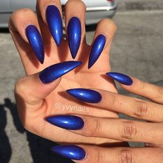 """""""Perfect claws for my boo @nails_by_kayyy  this shellac color """"purple purple"""" looks absolutely amazing on her!!  #nailart  #nailartaddict…"""""""