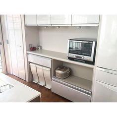 2016.2.13(SAT) #キッチン背面収納。 炊飯器の部分が引出し三段だったら、どんなに収納力アップするだろう。…
