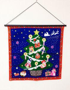 Furoshiki, Christmas fabric, wrapping cloth, Japanese fabric, cotton fabric, Christmas tapestry, Christmas gift, Japanese bag cloth on Etsy, ¥851.06