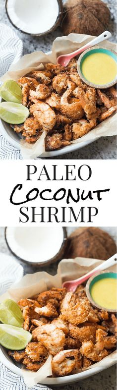 Paleo Coconut Shrimp - SO easy and absolutely delicious! | wickedspatula.com