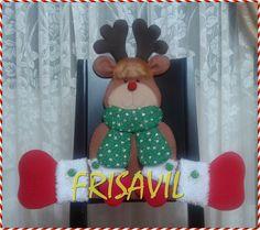CUBRESILLA NAVIDEÑO RENITO Reno, Facebook Sign Up, Minnie Mouse, Christmas Ornaments, Canvas, Holiday Decor, Home Decor, Board, Embellishments