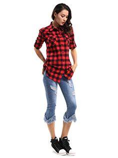 pipigo Girl Classic Fit Breathable Cotton Plaid Cute Short