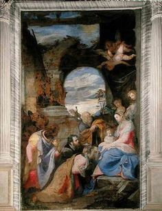 ZUCCARO, Federico (b. ca. 1542, Sant'Angelo in Vado, d. 1609, Ancona)   Click! Adoration of the Magi  1564 Oil on canvas San Francesco della Vigna, Venice  This painting is on the altar of the Grimani Chapel in San Francesco della Vigna.