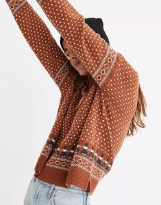 Woodside Jacquard Pullover Sweater
