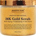 Majestic Pure 24K Gold Body and Facial Scrub Ancient Anti Aging Face and Bod...