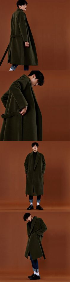 2017 Winter New Korean Style Tide Male Long Wool Overcoat Warm High Quality Vintage Solid Color Oversize Casual Outerwear M-xxl