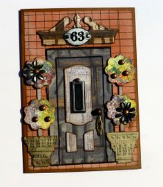 I absolutely LOVE this card! A great combo of Sizzix dies! The Gentleman Crafter: Shut The Front Door Die Cut Card!