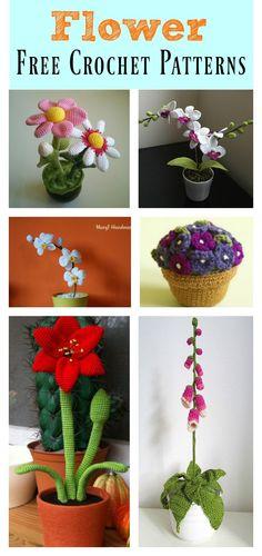 Crochet Pretty Flower Free Patterns #freecrochetpatterns #flowers #crochetpattern