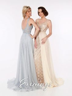 Evenings by Mon Cheri MCE11637 Gown with Sheer Overskirt