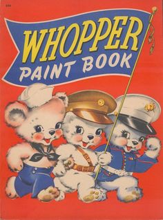 Stock of uncirculated and unused vintage coloring books for sale with characters from Warner Brothers, Disney and others.