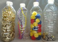 Infant Sensory Bottles from Natural Beach Living.need to make some of these for Eden she loves bottles! Baby Sensory Bottles, Sensory Bins, Sensory Activities, Infant Activities, Sensory Play, Infant Sensory, Activities For Kids, Infant Toddler Classroom, Discovery Bottles