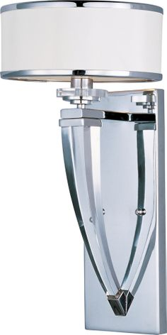 Metro 1-Light Wall Sconce shown in Polished Chrome by Maxim - 39828BCWTPC