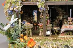 looking for inspiration to dress up a fairy dollhouse i did...
