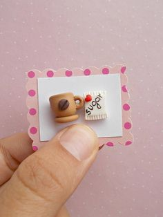 Coffee earrings created from polymer clay without molds or forms, with coffee cup and sugar. The lenght of each earring is 1.2 cm. ❀ Because i make everything by hand, the item you receive may differ slightly than shown on the pictures. ❀ Price is for one pair of earrings. ❀ I ship the