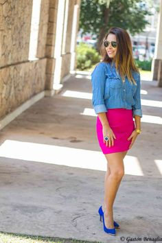 http://www.esteesmilook.com/nada-discreto-brillante-falda-fucsia/ NADA DISCRETO!!! : BRILLANTE FALDA FUCSIA