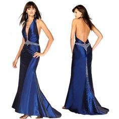 Beleza de Corpo Inteiro: Vestido de festa - longo azul marinho