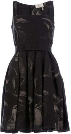 LANVIN Black Sleeveless Dress