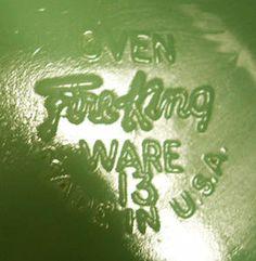 Fire King Glass Mark
