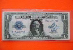 1923 US American One 1 Dollar Bill Blue Seal