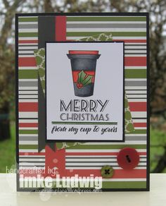 I made this card for the 2016 Winter Coffee Lovers Blog Hop. I´ve used a VERVE image.