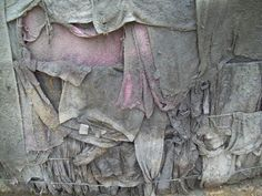 Close-up Concrete Clothes wall by eogreensticks, via Flickr
