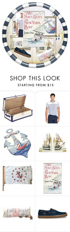 """The Navy Boys In New York Bay"" by jarmgirl ❤ liked on Polyvore featuring Ralph Lauren, Benzara, Otis, Vans and vintage"
