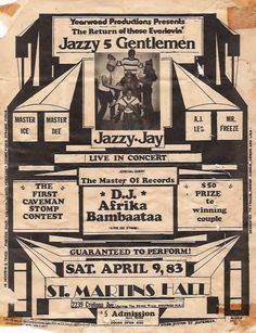 Old school Hiphop Party Flyers