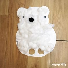 A new month means a new theme! So, this month we are going back to animals for round two!  This week we are making fluffy polar bear puppets! Aren't they adorable! You may need: White co…