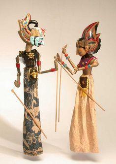 Wayang Golek Rod Puppets, Java, Indonesia