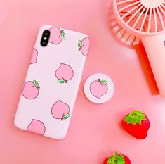 Handy Pie - Peach Mobile Case with Pop Up Holder - iPhone X / 8 / 8 Plus / 7 / 7 Plus / / Plus / 6 / 6 Plus Cute Phone Cases, Iphone Cases, Capas Iphone 6, Ddr4 Ram, Aesthetic Phone Case, Cool Technology, Mobile Covers, New Phones, Phone Covers