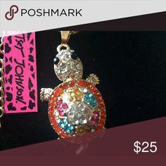 Betsey Johnson turtle necklace Turtle rhinestone necklace Betsey Johnson Jewelry Necklaces
