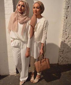 Hijab + Whites + NYFW (Summer Albarcha and Maria Alia)