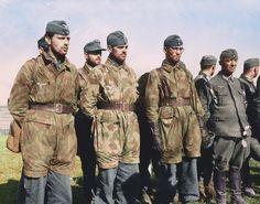 Officers and Men of the 2.Fallschirmjäger-Division and other German units, soon after surrendering in the city of Brest in Brittany, France. September 19/20th 1944