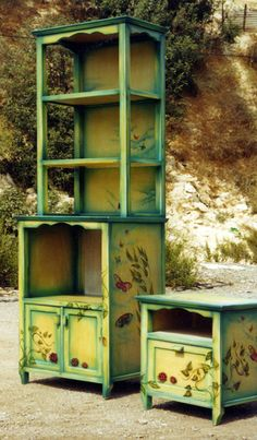 Hand painted Cabinet - by Menahem & Mary Lavee