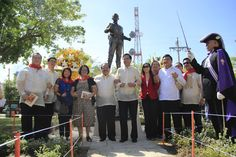 A new monument and marker of Philippine Hero Andres Bonifacio is unveiled to the public at Plaza Independencia, Cebu City, Philippines on December Cebu City, Marker, Philippines, Real Life, Places To Visit, December, Public, Hero, Activities