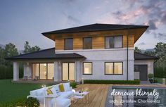 Projekt domu Verona IV, wizualizacja 3 Bungalow House Design, House Entrance, Ground Floor, Sweet Home, Flooring, Architecture, Outdoor Decor, Home Decor, Ideas