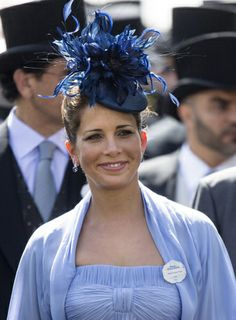 Princess Haya Bint Al Hussein, Sheikha of Dubai. attends Day 1 of Royal Ascot at Ascot Racecourse on June 2014 in Ascot, England. Princess Haya, Real Princess, Fascinator Hats, Fascinators, Headpieces, Oaks Day, Royal Ascot Hats, Steampunk Men, Dubai