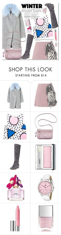 """Winter Essentials"" by oshint ❤ liked on Polyvore featuring Rebecca Taylor, MSGM, FOSSIL, Charles David, Clinique, Marc Jacobs, Tommy Hilfiger, Nails Inc. and winteressentials"