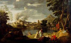 Orpheus and Eurydice, 1648 - Nicolas Poussin.Genre: mythological painting