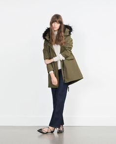 ZARA - WOMAN - FLEECE LINED PARKA